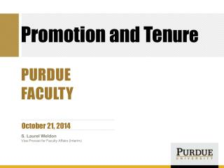 Promotion and Ten ure