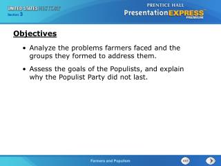 Analyze the problems farmers faced and the groups they formed to address them.