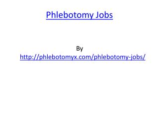 Phlebotomy Jobs