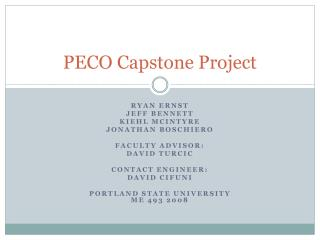 PECO Capstone Project