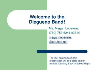 Welcome to the  Diegueno Band!
