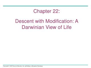 Chapter 22: Descent with Modification: A Darwinian View of Life