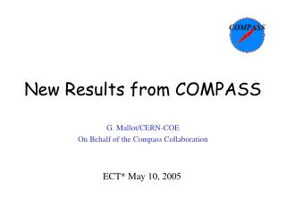 New Results from COMPASS