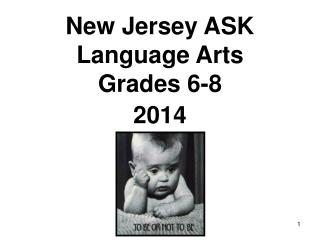 New Jersey ASK Language Arts Grades 6-8 2014