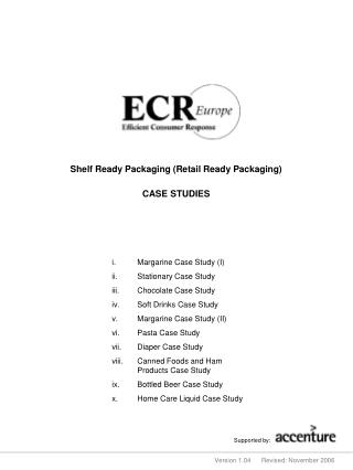 Shelf Ready Packaging (Retail Ready Packaging)