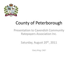County of Peterborough