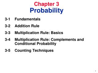 Chapter 3 Probability