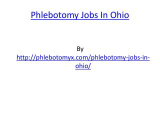 Phlebotomy Jobs In Ohio