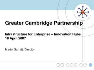 Greater Cambridge Partnership Infrastructure for Enterprise – Innovation Hubs 18 April 2007
