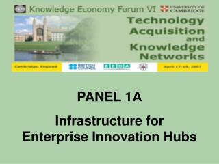 PANEL 1A Infrastructure for Enterprise Innovation Hubs