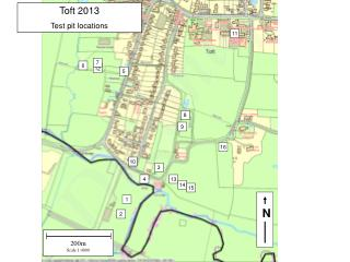 Toft 2013 Test pit locations