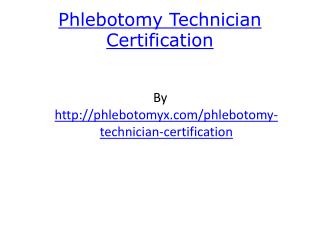 Phlebotomy Technician Certification