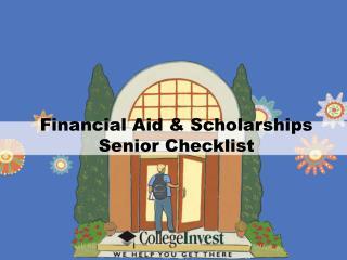 Financial Aid & Scholarships Senior Checklist