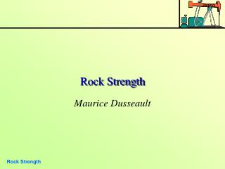 Rock Strength