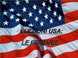 ELEZIONI USA: