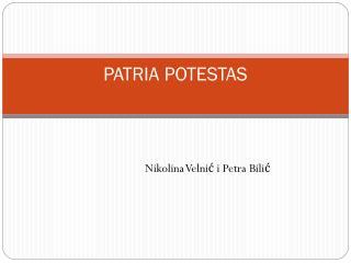 PATRIA POTESTAS