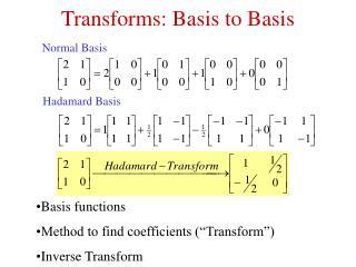 Transforms: Basis to Basis