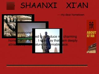 SHAANXI    XI'AN ----my dear hometown