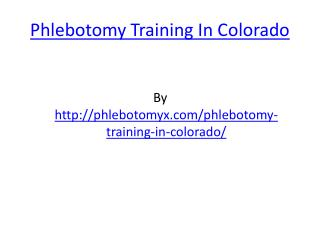 Phlebotomy Training In Colorado