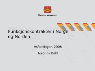 Funksjonskontrakter i Norge og Norden
