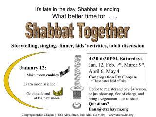 Congregation Etz Chayim   4161 Alma Street, Palo Alto, CA 94306   etzchayim