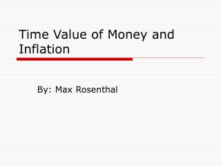 Time Value of Money and Inflation