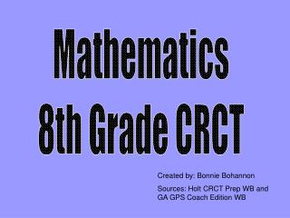 Mathematics 8th Grade CRCT
