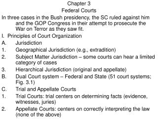 Chapter 3 Federal Courts