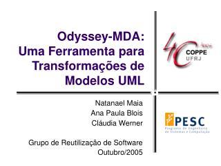 Odyssey-MDA: Uma Ferramenta para Transformações de Modelos UML