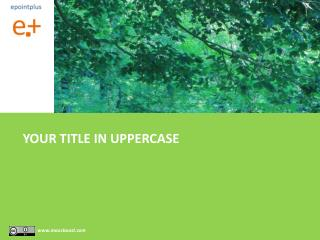 YOUR TITLE IN UPPERCASE