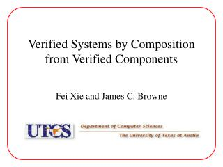 Verified Systems by Composition from Verified Components