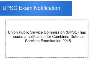 UPSC CDS I Exam 2014 - 15 - Interviewkiller