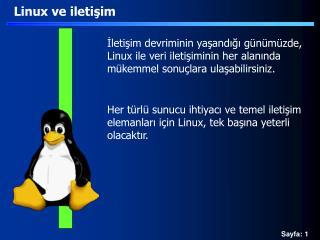Linux ve iletişim