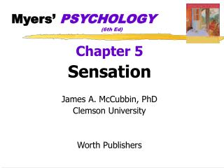 Myers' PSYCHOLOGY (6th Ed)