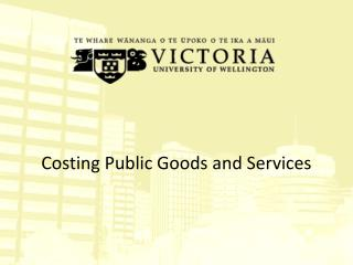 Costing Public Goods and Services