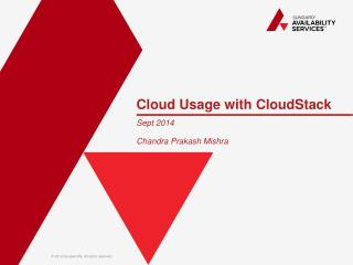 Cloud Usage with  CloudStack