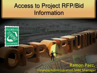 Access to Project RFP/Bid Information