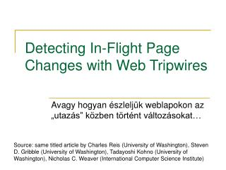Detecting In-Flight Page Changes with Web Tripwires