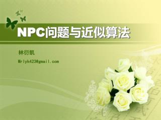 NPC 问题与近似算法