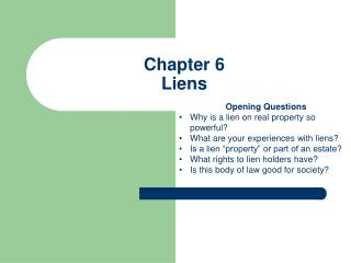 Chapter 6 Liens