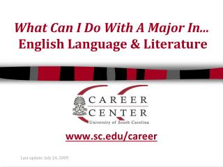 What Can I Do With A Major In... English Language & Literature
