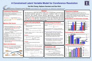 A Constrained Latent Variable Model for Coreference Resolution