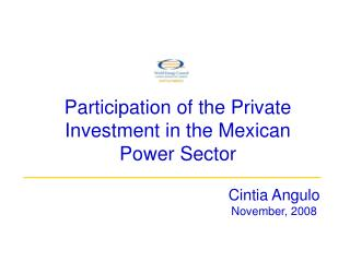 Participation of the Private Investment in the Mexican Power Sector
