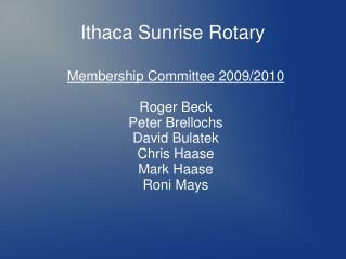 Ithaca Sunrise Rotary