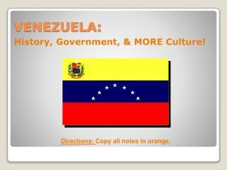 VENEZUELA: