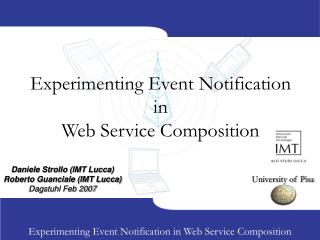 Experimenting Event Notification in Web Service Composition