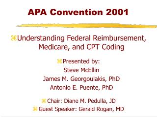 APA Convention 2001
