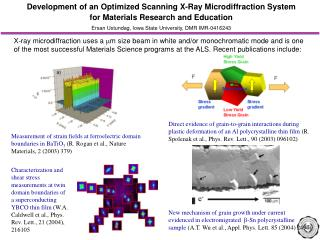 Development of an Optimized Scanning X-Ray Microdiffraction System