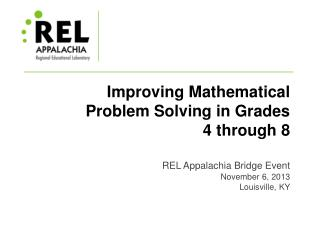 Improving Mathematical Problem Solving in Grades 4 through 8