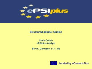 Structured debate: Outline